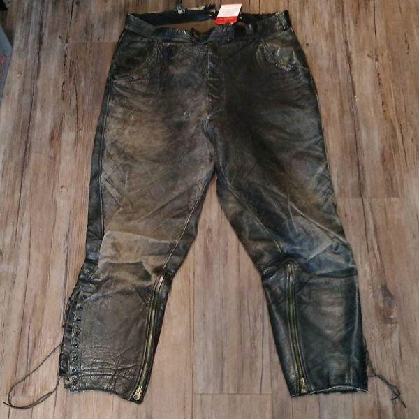 UNBRANDED Leather Vintage PANTS 13496 ( Size 30 - 32 )