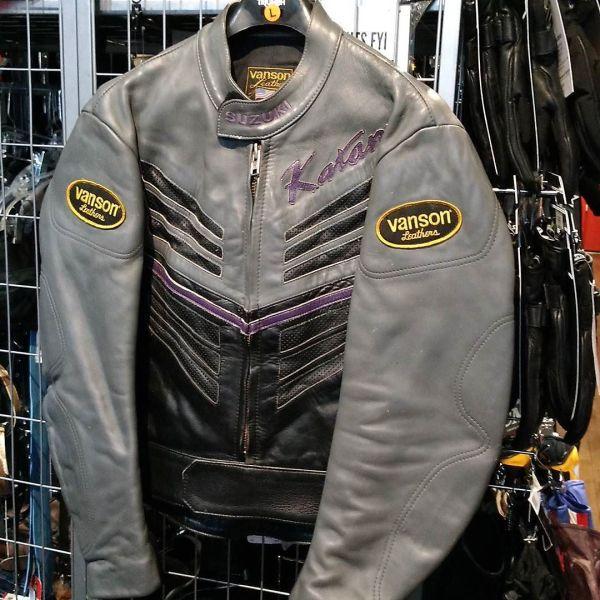 "VANSON ""KATANA"" Leather Cafe Racer JACKET 13639 ( Size L )"