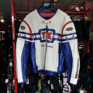 """TEKNIC Perforated Leather Racing JACKET 14462 ( Size XL 48"""" )"""