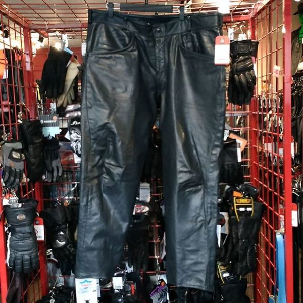 ORIGINAL LEATHER FACTORY Leather moto PANTS 14658 ( Size 42 )