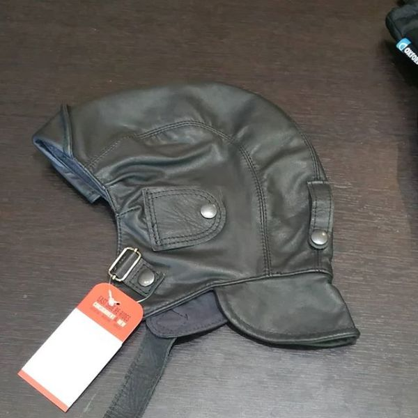 UNBRANDED Leather flyers cap HAT 15339 ( Size XL )