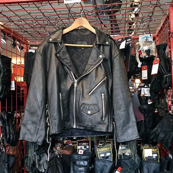 HARLEY DAVIDSON Leather Biker Classic + JACKET 20253 ( Size 44 )