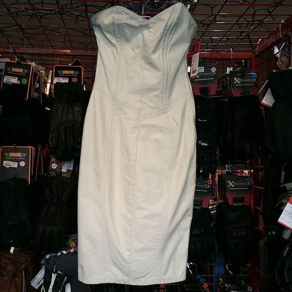 LEATHER RANCH Leather Corset Back Boustier DRESS 21297 ( Size XXS )