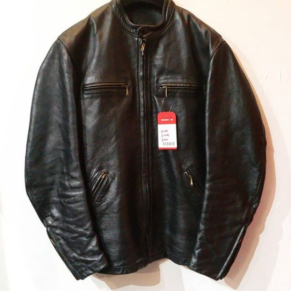 BATES Leather Cafe Racer JACKET 22251 ( Size 42 tall )