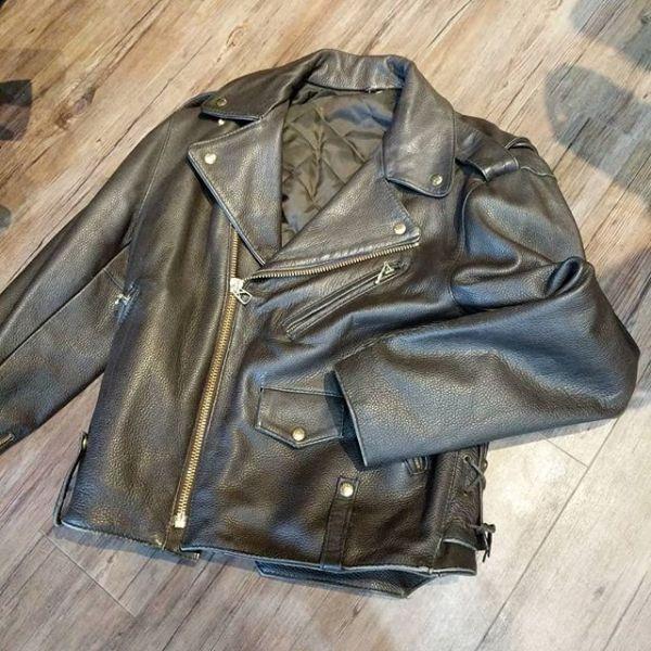 "CUSTOM Leather Biker Classic JACKET 23053 ( Size SM m 40"" )"