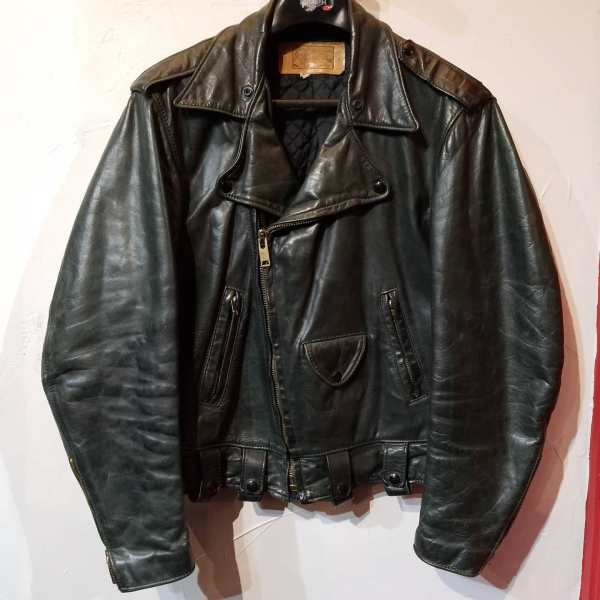 IMAGE LEATHERS Leather Biker Classic JACKET ( Size MED m 42 )