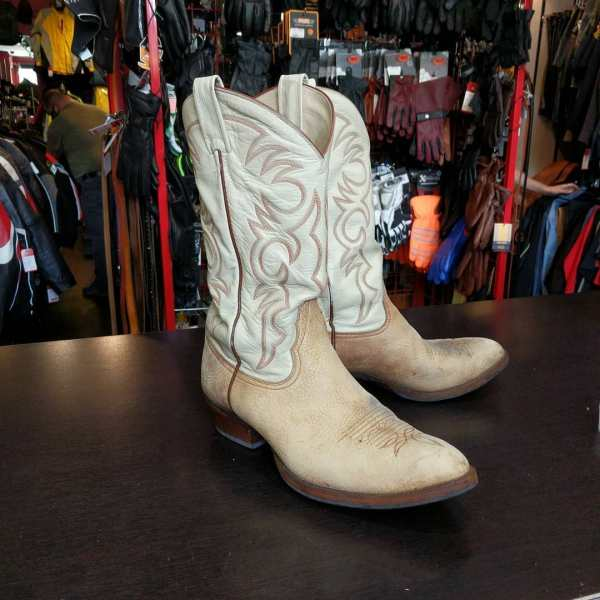 LARRY MAHAN Leather Western BOOTS 23472 ( Size 43.5 )