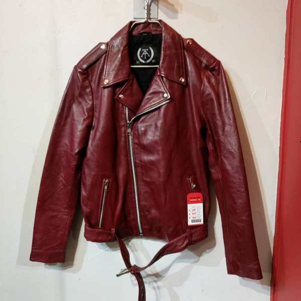 Threads of Apollo Leather Biker Classic JACKET | 23655 ( Size: MED m 40 )