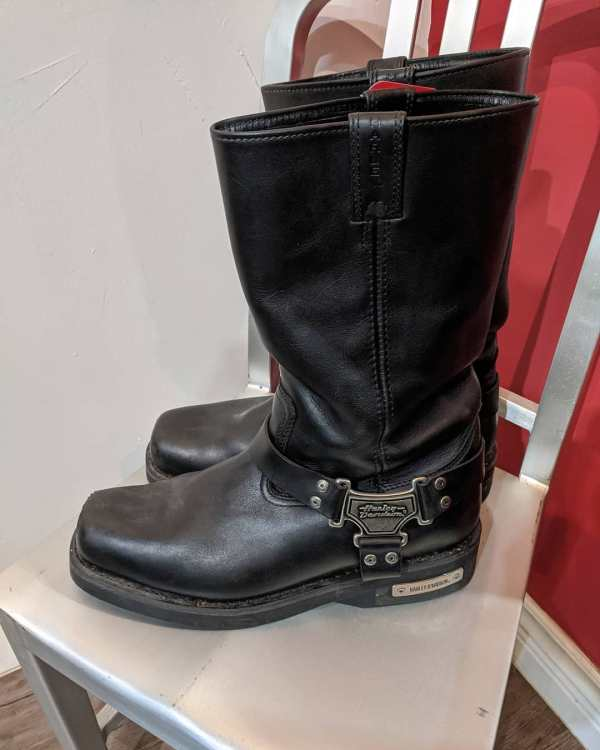 HARLEY DAVIDSON Leather Harness BOOTS | 23723 | Size: 45 wide