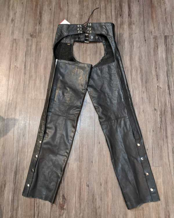"HOT LEATHERS Leather Biker CHAPS | 23818 | Size: 20"" thigh"