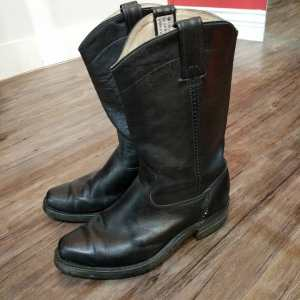 CANADA WEST Leather Western Biker BOOTS | 24208