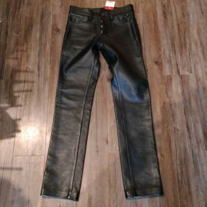 """ROB OF AMSTERDAM Leather jean style PANTS 8625 ( Size 28"""" slender fit )"""
