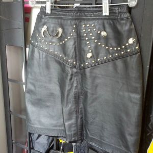 """LEATHER RANCH Leather Fashion SKIRT 9714 ( Size 30"""" Waist )"""