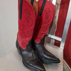 NINE WEST Leather Western BOOTS | 24968