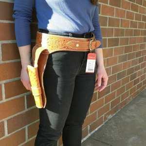 WESTERN Leather GUN BELT ACCESSORY | 25031