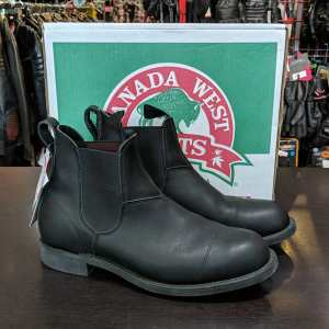 CANADA WEST Leather Chelsea BOOTS | 25741