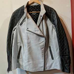 CUSTOM Mixed Material Moto JACKET | 25550