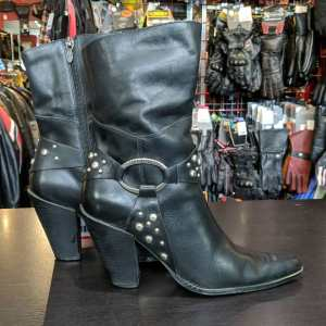 HARLEY DAVIDSON Leather High Heel BOOTS | 25718