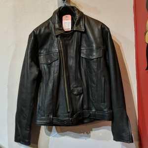 WOLFF Leather Biker Trucker JACKET   25405