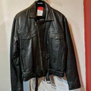 WOLFF Leather Biker Trucker JACKET   25409