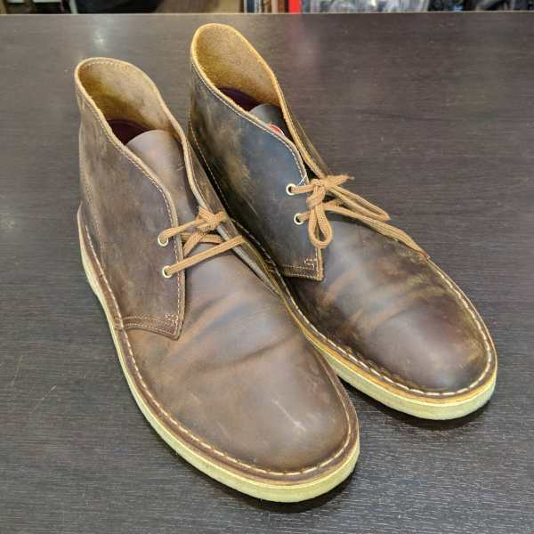 CLARKS Leather Desert BOOTS | 25885