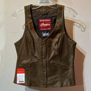 INDIAN Motorcycle Fitted Leather (Nubuck) VEST | 26218
