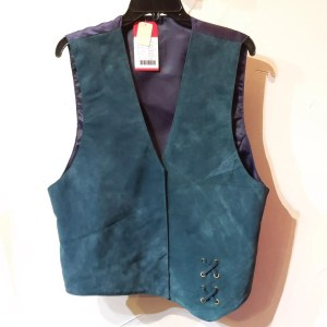 RALPH'S LEATHER Asymmetrical Leather (Suede) VEST | 26465