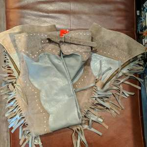 UNBRANDED Fringed Leather CHAPS | 26614
