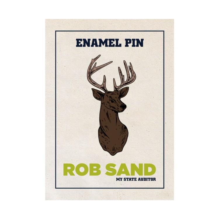 Rob Sand Enamel Buck Pin