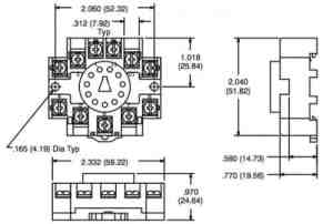 NTE R95114 11 Pin DIN RailOctal Relay Socket | SacElec