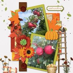 Layout using Apple Picking Embellishments and Apple Picking Collection