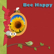Layout using Bee Happy Collection