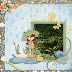 Layout using Rainy Day Collection and Clusters