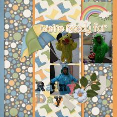 Layout By Kana using Rainy Day Collection