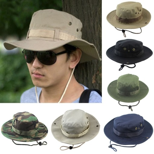 Bucket hat with strap Unisex