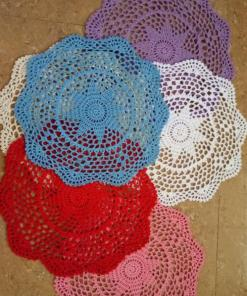 Round Crochet Table Mats