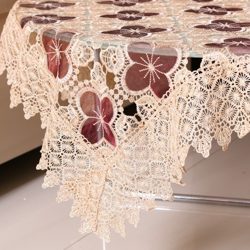Embroidered Lace Table Cloth