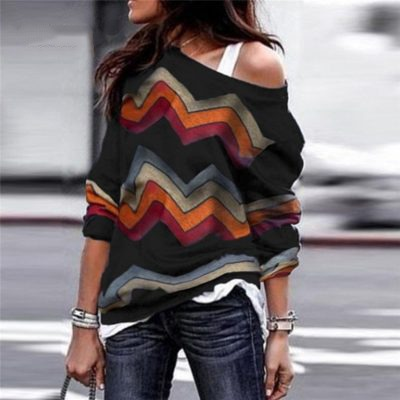 Women long sleeve printed blouse