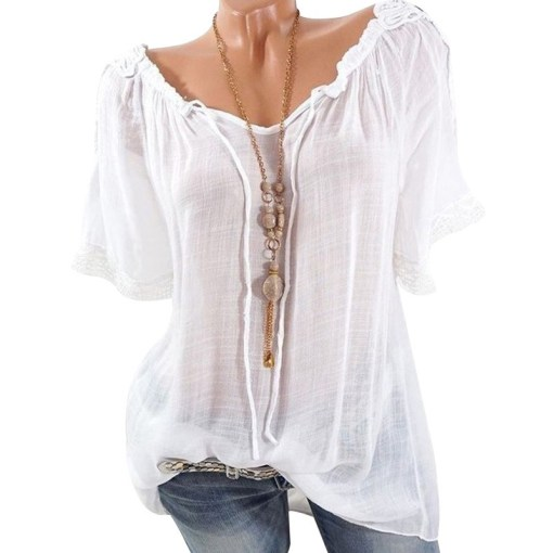 Off shoulder chiffon blouse