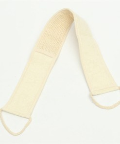 Natural back strap loofah