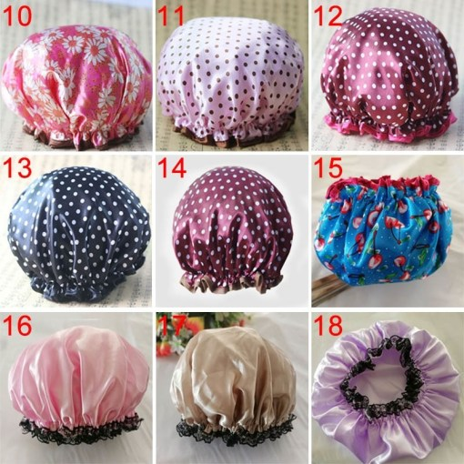 Thick waterproof shower cap