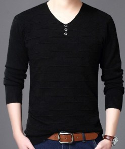 V-neck long sleeve sweater