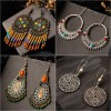 Vintage ethnic drop earrings