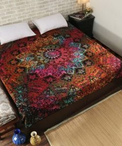 Printed Mandala wall Hang and Bedspread