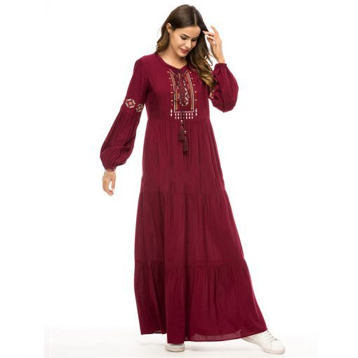 Womens maxi dress with tassels
