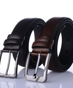 Men's faux leather belt