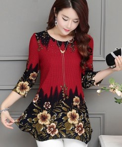Women two tone floral blouse