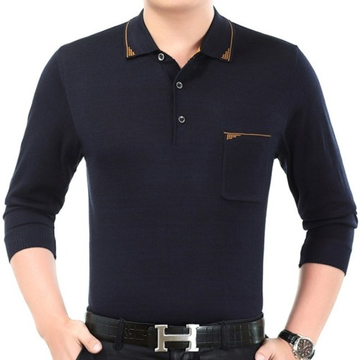 Men Polo Shirts Long Sleeve