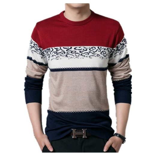 Mens Casual Sweater Long Sleeve