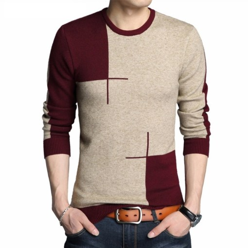 Mens Long Sleeve Sweater Casual
